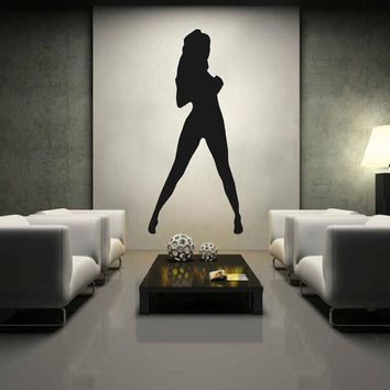 ik2237 Wall Decal Sticker sexy girl dancer dance hall bedroom