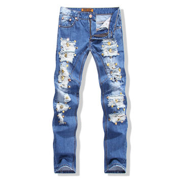 Style Slim Jeans Stylish Rinsed Denim Jeans [6541745283]