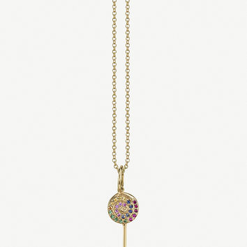 THE ALKEMISTRY Sydney Evan Lollipop 14ct yellow gold and crystal necklace