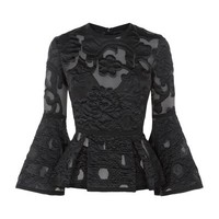 Elie Saab Textured Peplum Top