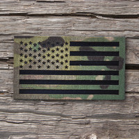 The Mil-spec Infrared Multicam (OCP) IR Flag Patch - American Made (choose your size)