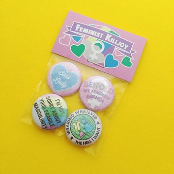 Feminist Killjoy Button Badge Pack