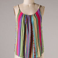 Stripe a Pose Tank - Fuschia and Blue - Hazel & Olive