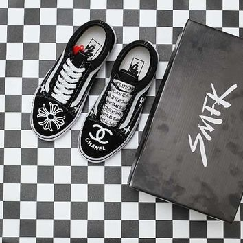 Vans X Chrome Hearts X Chanel Skateboarding Shoes 35-44 - Beauty Ticks