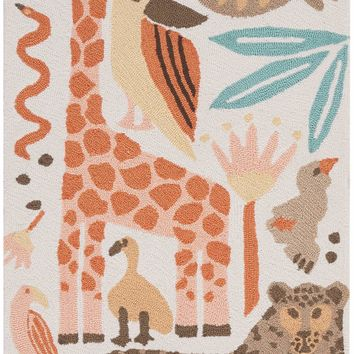 Nourison Bailey Coral Kids Area Rug