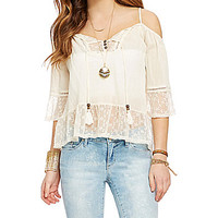 Jolt Off-the-Shoulder Peasant Top - Soft White