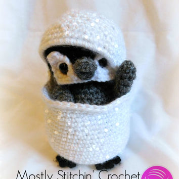 Snow Buddy; Cuddle-Up Penguin; CROCHET PATTERN; PDF