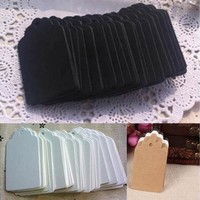100 Pcs Blank Kraft Paper Hang Tags Wedding Party Favor Label Price Gift Cards Hot [7983586247]