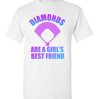 Diamonds are a Girl's Best Friend Baseball Shirt