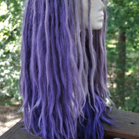Lavender and Purple Ombre Dreadlock Wig * Synthetic Lace Front Custom Wig * Festival * Fairy Kei * Faerie * Kawaii * Dread Extensions *