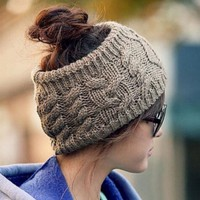 Twisted Knitted Yarn Headbands Women's