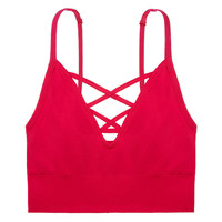 Seamless Cage Front Bralette - PINK - Victoria's Secret