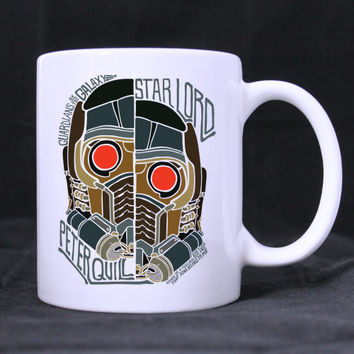 star lord peter quil design twin side  white mug