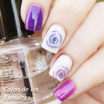1sheet Nail Art Water Decals Nail Stickers Water Transfer Sticker Charming Fantastic Rose Diy Stickers Pattern #6395