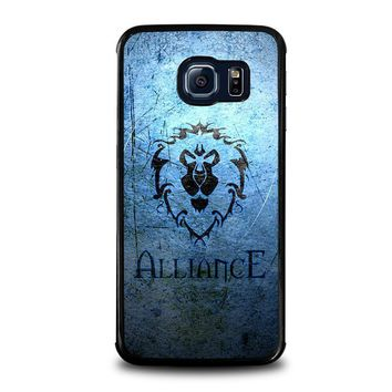 world of warcraft alliance wow samsung galaxy s6 edge case cover  number 1