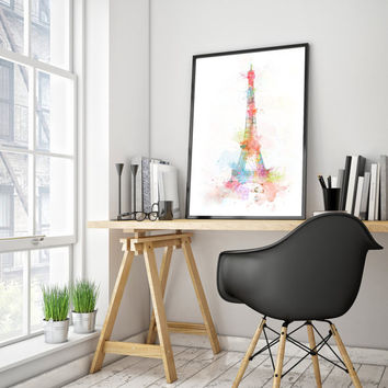 Printable art Watercolor PARIS 70x100 poster