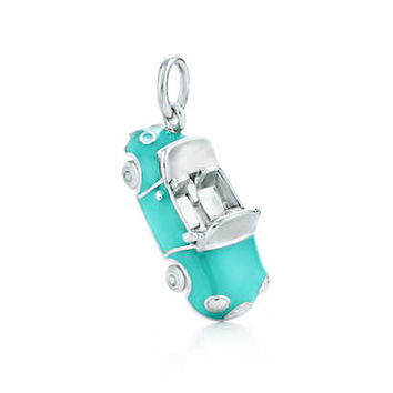 Tiffany & Co. - Convertible charm in sterling silver with Tiffany Blue® enamel finish.