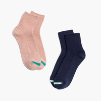 Two-Pack Ribbed Ankle Socks