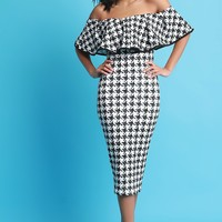 Check Mate Houndstooth Dress