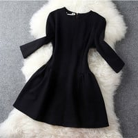 Long Sleeve Dress in Black