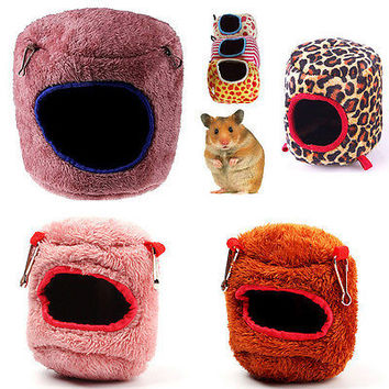 Cute Hammock Ferret Rabbit Rat Hamster Parrot Squirrel Hanging Bed Toy House HU