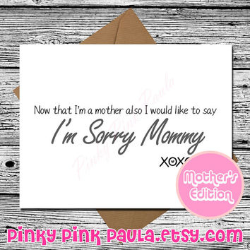 Funny Mothers Day Card * Mom Card * Mum Card * Mother Card * Funny Greeting Card * Funny Card * Funny Birthday Card * Mom Birthday Card