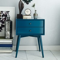 Mid-Century Nightstand - Thai Blue