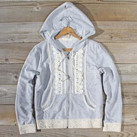 Spool Gym Lace Hoodie in Gray