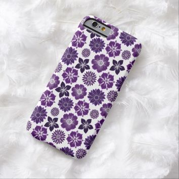 Romantic Pink Purple Floral Flower Pattern Barely There iPhone 6 Case