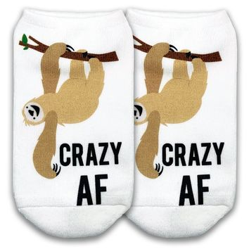 Crazy AF Sloth No Show Socks - Available in 3 sizes