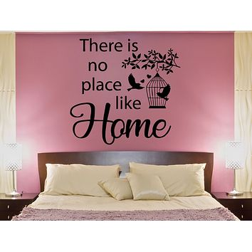 Wall Decal Quote Words Home Birds Romance Love Heart Vinyl Sticker (ed1472)