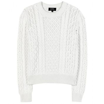 a.p.c. - silk and cotton-blend sweater