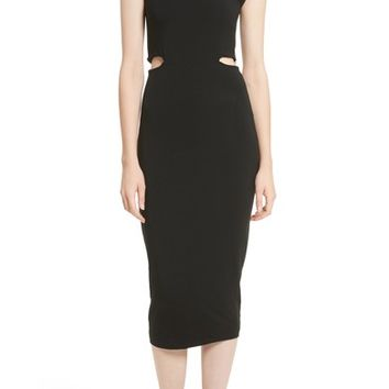T by Alexander Wang Cutout Stretch Jersey Dress | Nordstrom