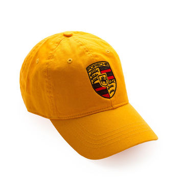 """Club Foreign Logo Hat """"Black Horse"""" Yellow"""