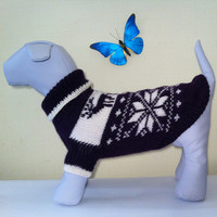 Knit Warm Winter Original Sweater For Big Dog. Handmade Knit Dog Clothing. Pet Knit Sweater. Dog Clothes. Size XL
