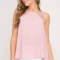Strappy Top - Pink