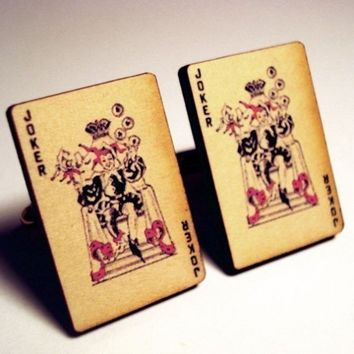 Joker vintage style playing cards on silver by crimsonking on Etsy