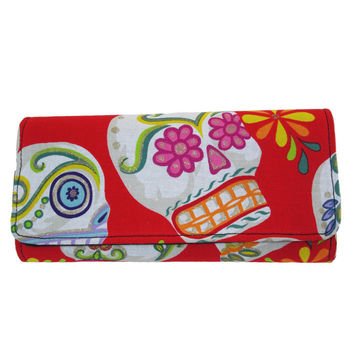 Red Sugar Skull Wallet