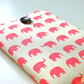 "Pink Elephants Laptop Sleeve 13"" MacBook Pro Computer Case Padded"