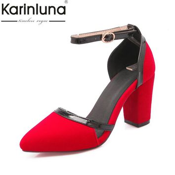 KARINLUNA 2018 black large size 33-43 shoes women top quality party women shoes sexy pumps platform high heels shoes woman