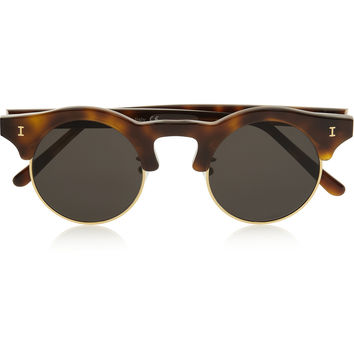 Illesteva - Corsica round-frame acetate and metal sunglasses