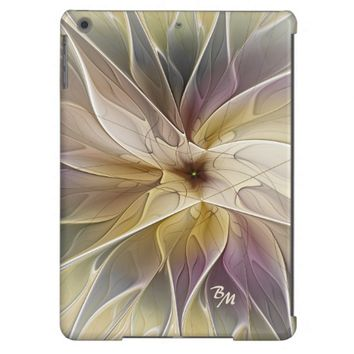 Floral Fantasy Pattern Abstract Fractal Monogram iPad Air Cases