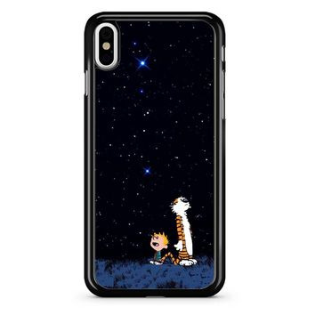 Calvin And Hobbes Stars iPhone X Case