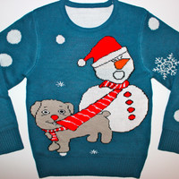 Adult Ugly Christmas Sweater - Tug O' War