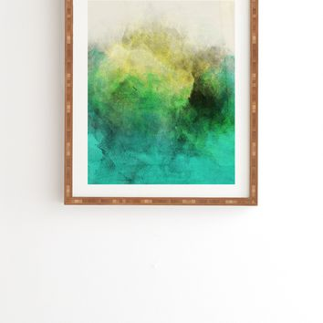 Allyson Johnson Peacock Ombre Framed Wall Art