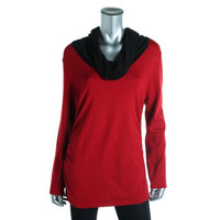 United States Sweaters Womens Knit Colorblock Turtleneck Sweater