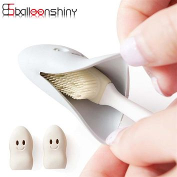 BalleenShiny 2Pcs Travel Portable Toothbrush Storage Box Head Protective Cover Holder Creative Cute Protect Hike Brush Cleaner