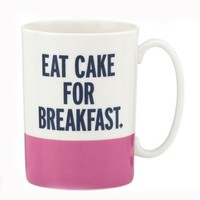 things we love eat cake for breakfast mug