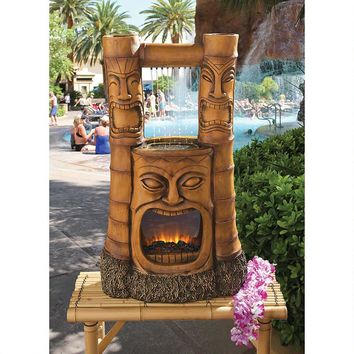 """Tiki Gods of Fire and Water"" Fountain"