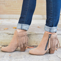 Red Rocks Fringe Bootie Tan